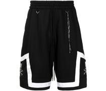 Sport-Shorts mit Totenkopfstickerei