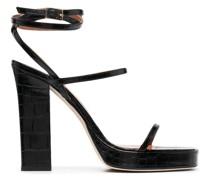 Sandalen mit Kroko-Prägung