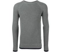 Sweatshirt mit gerippten Borten