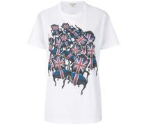 T-Shirt mit Stühle-Print