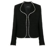 pearl embellished bouclé jacket