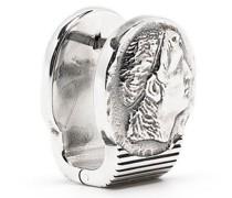 Ohrclip mit Münzen-Motiv