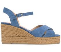 Wedge-Jeans-Sandalen