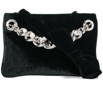 embellished chain clutch