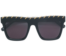 chain-trimmed sunglasses