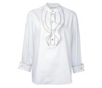 Bluse mit gewebten Details