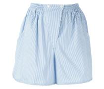 Gestreifte Shorts mit Einsatz