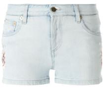 Jeans-Shorts mit Blumenstickerei