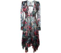 Asymmetrisches Kleid mit floralem Print - women