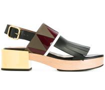 - Sandalen mit Fransenlasche - women