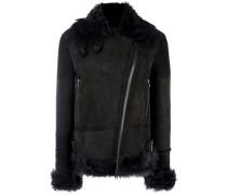 Shearling-Jacke mit Reißverschlusstaschen