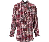 Tweed-Jacke in Hemdoptik