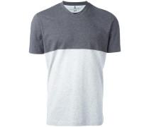T-Shirt mit Colour-Block-Optik