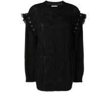 Pullover in Lochstrick-Optik