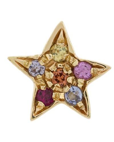 18kt Goldohrring mit Stern
