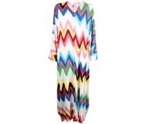 stripe-print maxi dress