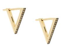 18kt 'Triangle Dormeuse' Gelbgold-Ohrstecker mit Diamanten
