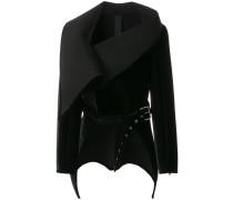 oversized collar buckle jacket