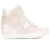 Metallische High-Top-Sneakers