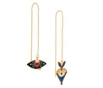 enamelled earrings