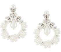 Ohrringe mit Perle und Kristallen
