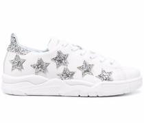 Sneakers mit Glitter-Optik