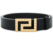 studded Greek Key buckle belt