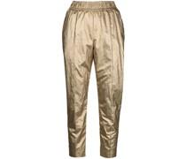 Skinny-Hose im Metallic-Look