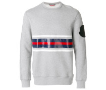 tri-colour contrast panel sweatshirt