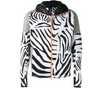 Kapuzenpullover mit Zebra-Print
