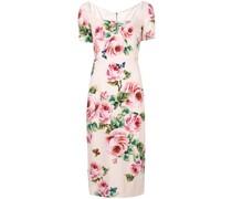 rose print midi dress
