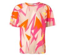 - T-Shirt mit abstraktem Print - women - Seide