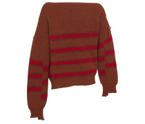 Wool striped sweater with buckle detail