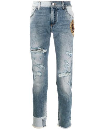 Skinny-Jeans mit DG-Patch
