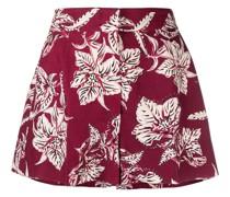 Geblümte Shorts mit hohem Bund