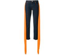 pleated panel jeans