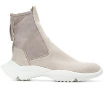 zip-up high-top sneakers