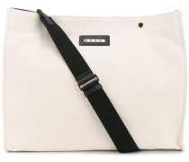 canvas tote bag - women - Baumwolle/Leder