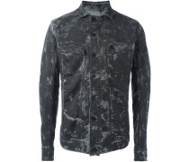 camo effect denim jacket
