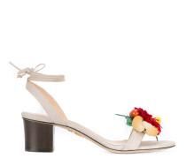 Sandalen mit Blumenapplikation - women