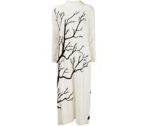 Kleid mit Baum-Print