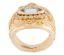 'Cashmere' aquamarine and diamond ring