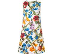 floral print brocade shift dress