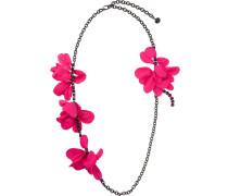 Halskette mit Blumenapplikation
