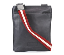 striped shoulder strap messenger bag