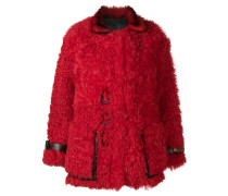 Shearling-Mantel im Oversized-Look