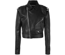 Cropped-Bikerjacke mit Cut-Outs