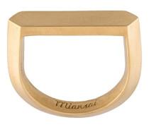 Vergoldeter 'Flat Top' Ring