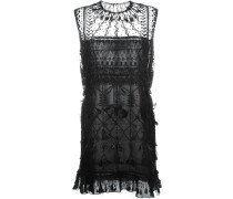 Kleid mit Feder- und Perlenverzierung - women