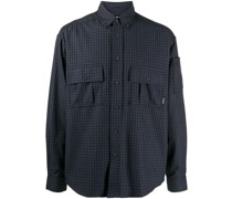 check print chest pocket shirt